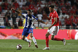 October 7, 2018 - Lisbon, Portugal - Sergio Oliveira of Porto (L) vies for the ball with Andreas Samaris of Benfica (R)  during the Portuguese League football match between SL Benfica and FC Porto at Luz Stadium in Lisbon on October 7, 2018. (Credit Image: © Carlos Palma/NurPhoto/ZUMA Press)