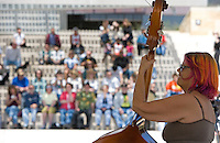 The Kat's Meow Plays at City Hall 3/15/07 during SXSW to kick off Live From the Plaza series. Francie Mojeaux, bass.