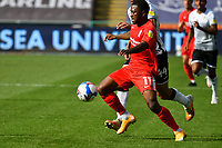 Football - 2020 /2021 EFL Championship - Swansea City vs Birmingham City <br />      <br /> Jeremie Bela of Birmingham on the attack<br /> in a match played without fans at the Liberty Stadium<br /> <br /> COLORSPORT/WINSTON BYNORTH