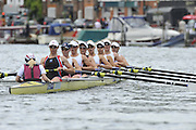 Henley, Great Britain.  The Rememham Challenge Cup. Leander Club and Gloucester RC.  Ro Bradbury,  Polly Swann, Jessica Eddie Victoria Thornley, Natasha Page, Louisa Reeve, Katie Solesbury , Lindsey Maguire cox, Caroline O'Connor.  Henley Royal Regatta. River Thames Henley Reach.  Royal Regatta. River Thames Henley Reach.  Friday   01/07/2011  [Mandatory Credit Peter Spurrie r/ Intersport Images] 2011 Henley Royal Regatta. HOT. Great Britain . HRR