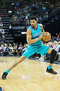 MEMPHIS, TN - OCTOBER 30:  Jeremy Lamb #3 of the Charlotte Hornets with the ball during a game against the Memphis Grizzlies at the FedEx Forum on October 30, 2017 in Memphis, Tennessee.  NOTE TO USER: User expressly acknowledges and agrees that, by downloading and or using this photograph, User is consenting to the terms and conditions of the Getty Images License Agreement.  The Hornets defeated the Grizzlies 104-99.  (Photo by Wesley Hitt/Getty Images) *** Local Caption *** Jeremy Lamb