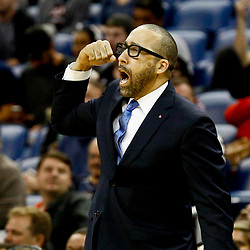 Dec 5, 2016; New Orleans, LA, USA; Memphis Grizzlies head coach David Fizdale against the New Orleans Pelicans during the second half of a game at the Smoothie King Center. The Grizzlies defeated the Pelicans 110-108 in double overtime.  Mandatory Credit: Derick E. Hingle-USA TODAY Sports