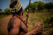 Xerente tribesmen  in the village of Tocantinia, Brazil, Friday, 04, 2015. (Hilaea Media/ Dado Galdieri)