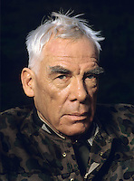 American actor Lee Marvin seen on the filmset of 'The Return of the Dirty Dozen' in Surrey, United Kingdom in 1984. Photographed by Terry Fincher