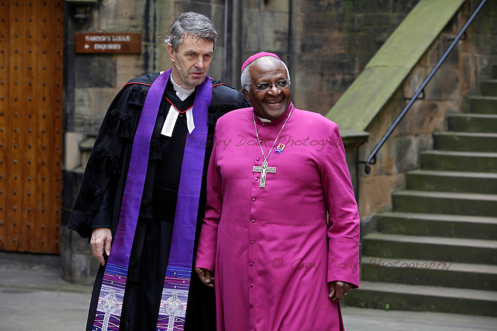 Archbishop Desmond Tutu addresses The 2009 General Assembly of the Church of Scotland.
