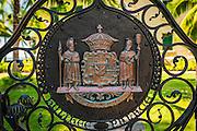 Coat of arms at Hulihee Palace, Kailua-Kona, Hawaii, USA