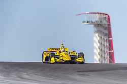 February 12, 2019 - Austin, Texas, U.S. - HELIO CASTRONEVES (3) of Brazil  goes through the turns during practice for the IndyCar Spring Test at Circuit Of The Americas in Austin, Texas. (Credit Image: © Walter G Arce Sr Asp Inc/ASP)