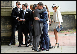 Guest arriving at the wedding of Poppy Delevingne to James Cook at St.Paul's Church in Knightsbridge, London,  Friday, 16th May 2014. Picture by Andrew Parsons / i-Images