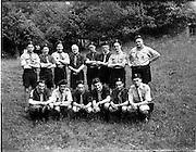 01/07/1962<br /> 07/01/1962<br /> 01 July 1962<br /> Investiture into the 1st Larch Hill Scout Troop. A group f 12 of those invested at Larch Hill Co. Dublin into the 1st Larch Hill C.B.S.I. Troop, pictured with Chief Scout C.J. Murphy, (centre rear) and P.J. Killackey, Dublin, National Training Team. Included are: C. Ryan; C. O'Liathain; G. Walker; R. Healy; G. Duncan; D. Tipple; K. Murnane (s?); R. Flatman; C. Doyle; T. Mullan; P. Ahearne and M. Gayson.