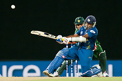 © Licensed to London News Pictures. 04/10/2012. Sri Lankan Mahela Jayawardene batting during the World T20 Cricket Mens Semi Final match between Sri Lanka Vs Pakistan at the R Premadasa International Cricket Stadium, Colombo. Photo credit : Asanka Brendon Ratnayake/LNP