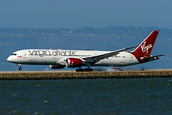 Boeing 787-9 Dreamliner (G-VZIG) operated by Virgin Atlantic landing at San Francisco International Airport (KSFO), San Francisco, California, United States of America