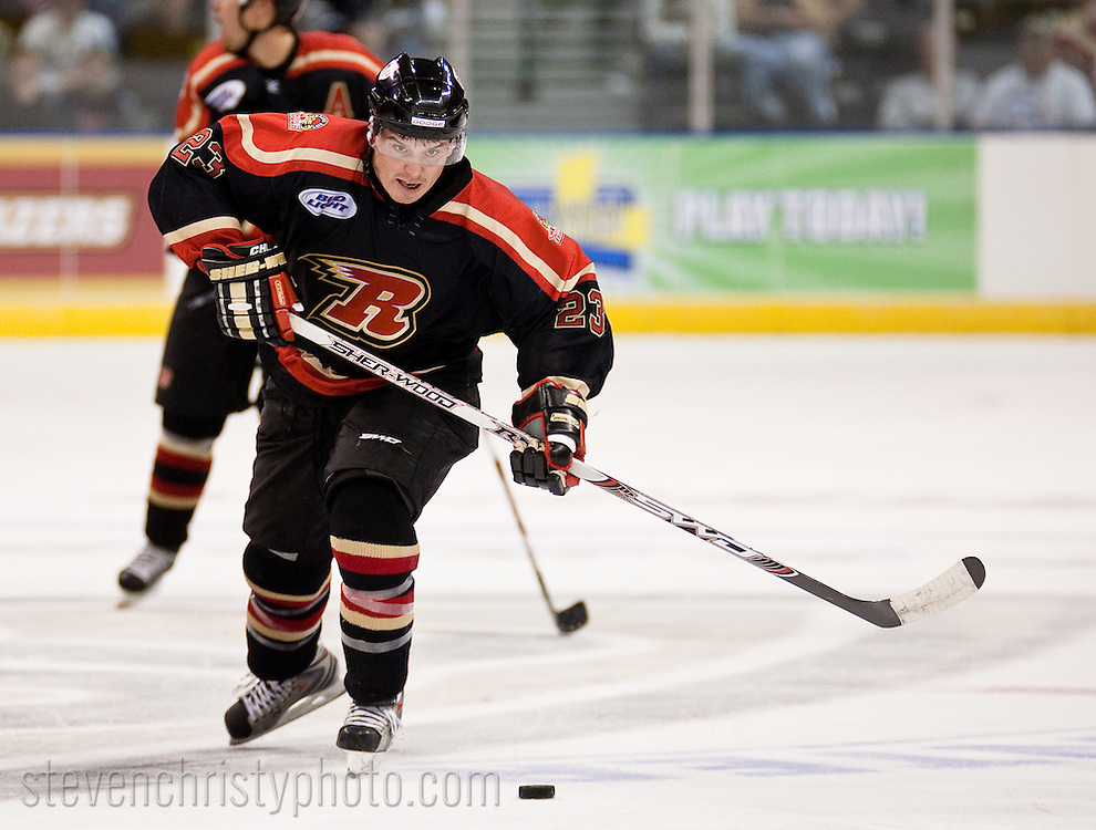 October 31, 2008: The Rapid City Rush of the CHL play against the Oklahoma City (OKC) Blazers at the Ford Center in Oklahoma City, OK.