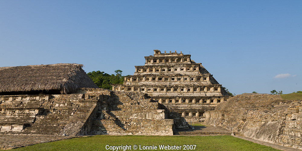 The ruins of El Tajin are a reminder of past Veracruz civilizations. first occupied about AD 100. El Tajin is located near Poza Rica Veracurz Mexico.