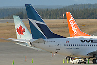 Busy morning at Whitehorse Airport.