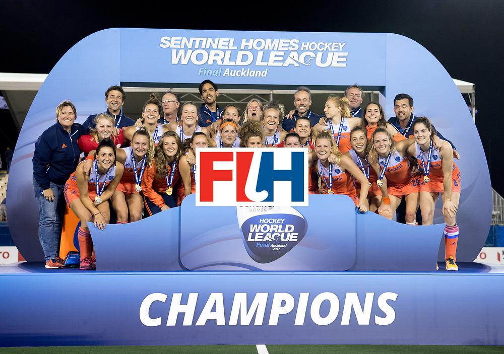 AUCKLAND - Sentinel Hockey World League final women<br /> Match id:10322<br /> 22 NED v NZL (Final)<br /> Foto: Team pictures.<br /> Netherlands wins the Sentinel Hockey World League<br /> WORLDSPORTPICS COPYRIGHT FRANK UIJLENBROEK