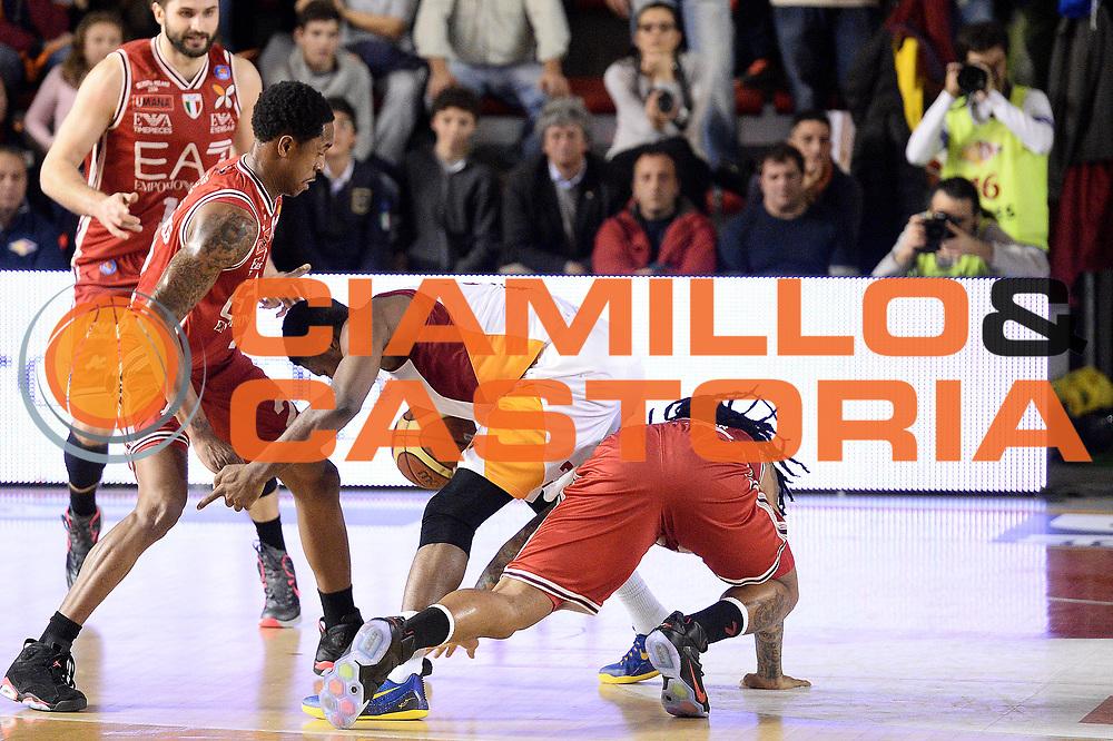 DESCRIZIONE : Roma Lega A 2014-15 Acea Virtus Roma Emporio Armani Milano<br /> GIOCATORE : melvin ejim<br /> CATEGORIA : equilibrio<br /> SQUADRA : Acea Virtus Roma Emporio Armani Milano<br /> EVENTO : Campionato Lega Serie A 2014-2015<br /> GARA : Acea Virtus Roma Varese<br /> DATA : 21.12.2014<br /> SPORT : Pallacanestro <br /> AUTORE : Agenzia Ciamillo-Castoria/M.Greco<br /> Galleria : Lega Basket A 2014-2015 <br /> Fotonotizia : Roma Lega A 2014-15 Acea Virtus Roma Emporio Armani Milano