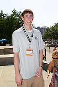 Gordon Hayward seen at the IPL 500 Festival Parade in Indianapolis, Indiana.<br /> Photo by Michael Hickey