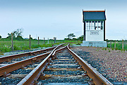 Train tracks junction of West Clare Railway at Moyasta, County Clare, West of Ireland