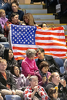 KELOWNA, BC - OCTOBER 25:  Fans show their support for American figures skaters at Skate Canada International at Prospera Place on October 25, 2019 in Kelowna, Canada. (Photo by Marissa Baecker/Shoot the Breeze)