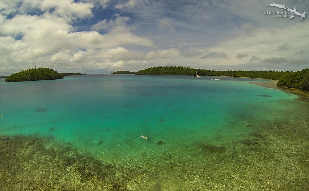 Snorkeler near Vakaeitu, Vava'u, Tonga