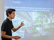 Students participate in a design charrette for Houston MSTC, April 24, 2015.