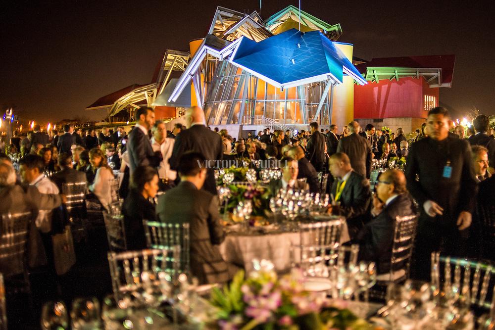 Biomuseo, cena grupo de empresarios. Cumbre de las Americas, Panamá 2015.@Ramón Lepage/istmophoto.com