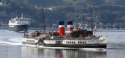 Waverley is one of the world's greatest historic ships – the last sea-going paddle steamer in the world. Seen here leaving Oban on a beautiful summer morning for a cruise around the Inner Hebrides Islands. (c) Stephen Lawson | Edinburgh Elite media