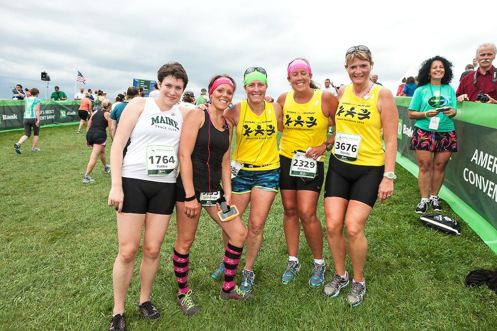 Beach to Beacon 10K road race: Pattie, Taylor-Paige, Rebecca, Wanda