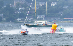 The P1 Scottish Grand Prix of the Sea is the second of four events across the UK for the P1 Powerboat Championship taking place at Greenock.<br /> <br /> Pictured: Pertemps Network team leading Milford Waterfront Pembrokeshire Panther team