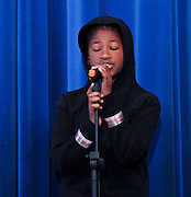 "10/26/09  -  Atlanta, Ga :  Students at Sagamore Hills Elementary School including Tyler Smith in ""You Belong to Me"" perform their skits during the 2009 talent show featuring dance, music, comedy and other performances for the annual Showcase of Stars on Monday, October 26, 2009. Director Nancy Briggs, and assistant directors Joe Scivicque and Teresa Libbey helped produce more than 30 acts.     David Tulis         dtulis@gmail.com    ©David Tulis 2009"