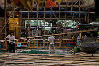 Bamboo scaffoldings, Wanchai, Hong Kong.