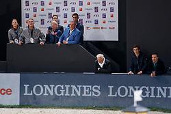 Philippaerts Ludo, BEL, Devos Pieter, BEL, Philippaerts Nicola, BEL<br /> LONGINES FEI World Cup™ Finals Paris 2018<br /> © Hippo Foto - Dirk Caremans<br /> 13/04/2018