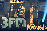 De 3FM Awards 2014 in de Gashouder, Amsterdam.<br /> <br /> Op de foto:  Blaudzun - Johannes Sigmond , wint de award voor Beste artiest alternative