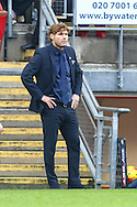 Mauro Milanese, Manager of Leyton Orient, looks on with his hands on his hips during the Sky Bet League 1 match at the Matchroom Stadium, London<br /> Picture by David Horn/Focus Images Ltd +44 7545 970036<br /> 22/11/2014