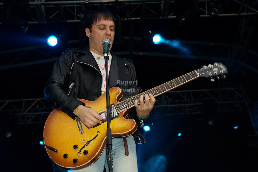 The Cribs play live at the White Air Festival on Brighton Beach