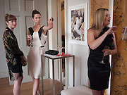 Anoushka Beckwith; Margot Stilley; Holly Vallance, Elizabeth Arden.-100th anniversary party. 33 Fitzroy Square, London W1, 29 June 2010. DO NOT ARCHIVE-© Copyright Photograph by Dafydd Jones. 248 Clapham Rd. London SW9 0PZ. Tel 0207 820 0771. www.dafjones.com.