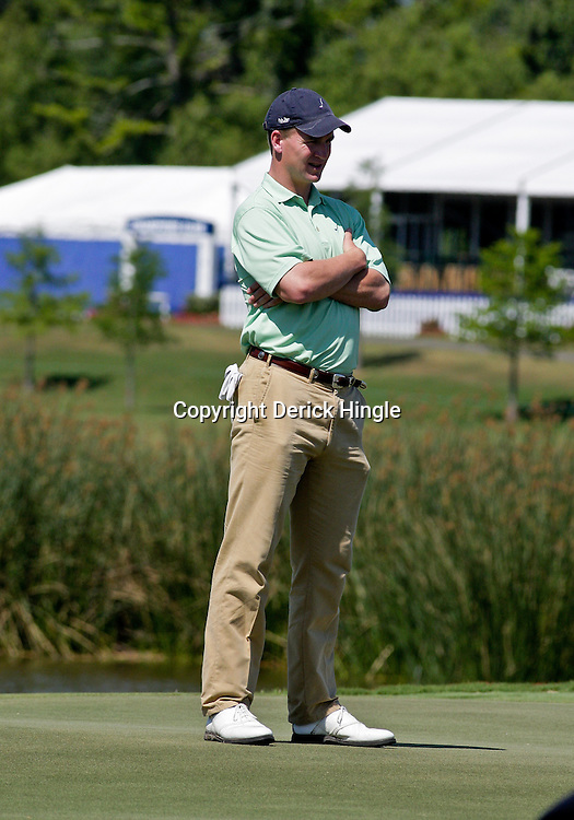2009 April 22: Peyton Manning quarterback of the NFL's Indianapolis Colts on the green during the PGA Tour, Zurich Classic of New Orleans Classic Pro-Am played at TPC Louisiana in Avondale, Louisiana.