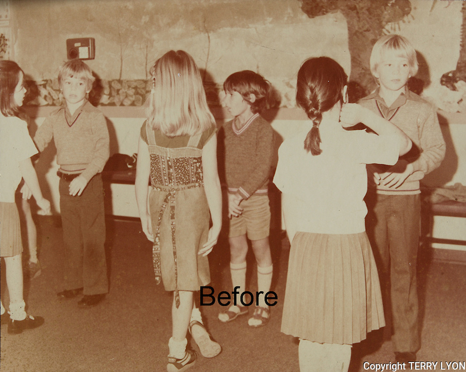 Photo restoration, faded sun damaged, cracked and stained surfaces, torn edges can all be fully restored by using the original and making new prints.