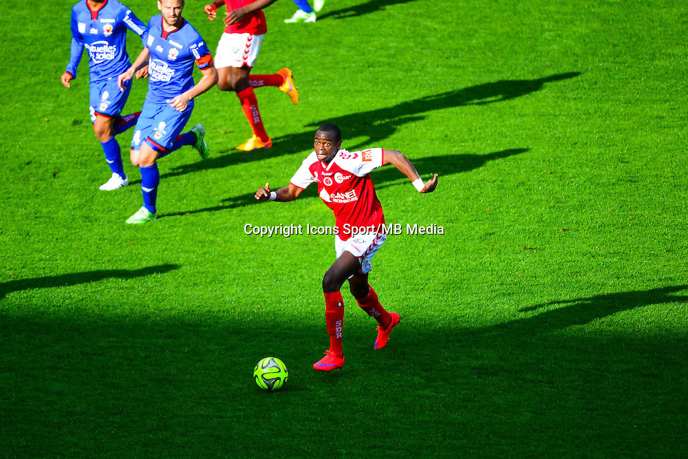 Prince ONIANGUE - 12.04.2015 - Reims / Nice - 32eme journee de Ligue 1 <br />
