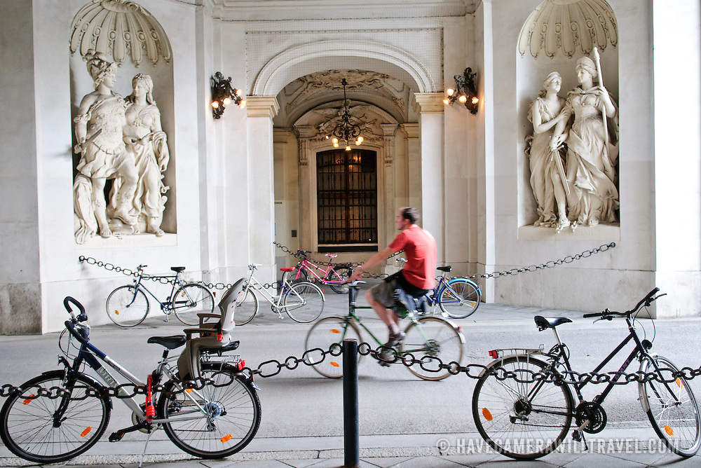 Bicycles at Hofburg Palace in Vienna