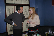 Inacio Ribeiro and  Nathalie Press. 'Pret-a-Portea'M.A.C. launches High Tea collection with British fashion designers. Berkeley Hotel. 17 January 2004. ONE TIME USE ONLY - DO NOT ARCHIVE  © Copyright Photograph by Dafydd Jones 66 Stockwell Park Rd. London SW9 0DA Tel 020 7733 0108 www.dafjones.com