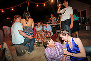 The fire pit area at The Surf Lodge in Montauk on Saturday night.<br /> <br /> Danny Ghitis for The New York Times