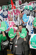 """All Together for Public Services"" photocall at the TUC Conference 2010."