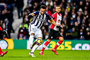 West Bromwich Albion midfielder Matt Philips (10) controls the ball during the Premier League match between West Bromwich Albion and Southampton at The Hawthorns, West Bromwich, England on 3 February 2018. Picture by Dennis Goodwin.