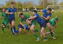 James Kennedy in action for Connacht junior during the interprovincial clash against Leinster at the Green Ballinrobe on saturday last.<br /> Pic Conor McKeown