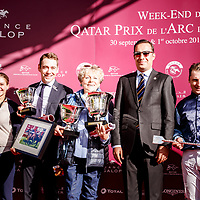 Garlingari (S. Pasquier) wins Qatar Prix Dollar Gr. 2 in Chantilly, France 30/09/2017 photo: Zuzanna Lupa