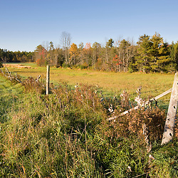 A hay field at the Clark Farm in Windham, Maine.
