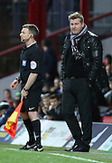 Milton Keynes Dons manager Karl Robinson not happy with the display during the Sky Bet Championship match between Brentford and Milton Keynes Dons at Griffin Park, London, England on 5 December 2015. Photo by Matthew Redman.