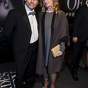 NLD/Amsterdam/20150211 - Premiere Fifty Shades of Grey, Robert Schoemacher en partner Claudia van Zweden