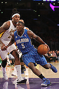 Sunday March 23, 2041; Victor Oladipo #5 of the Magic during the game. The Los Angeles Lakers defeated the Orlando Magic by the final score of 103-94 at Staples Center in downtow Los Angeles CA.